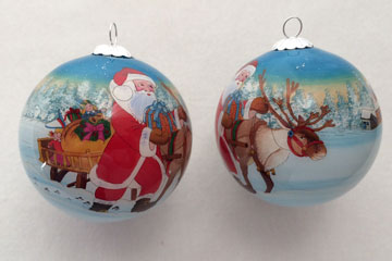 Kerstman rendieren pakjes