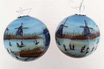 Blue windmills Kinderdijk