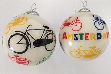 Amsterdam colored bikes