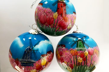 Tulipfields and four windmills