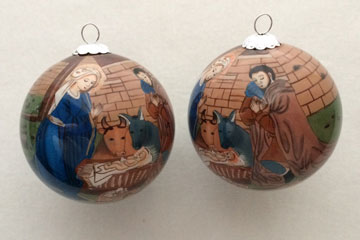 Nativity in beige and blue