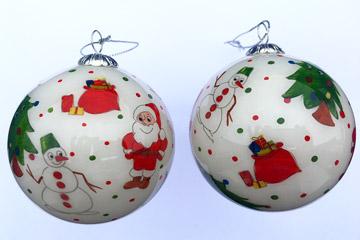Santa & Snowmen white