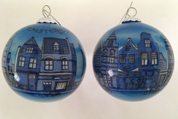 Delft blue, Amsterdam canal house